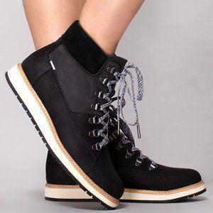 Toms Mesa Black Hiker Leather Waterproof Boot
